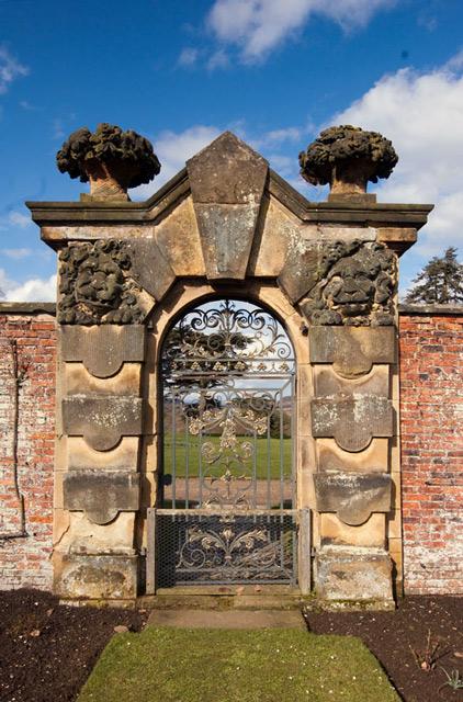 Ornate gateway in the Rose Garden