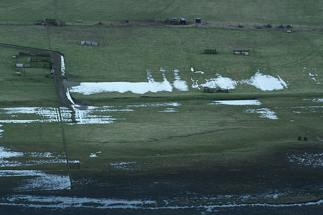 Flooded fields, Norwick