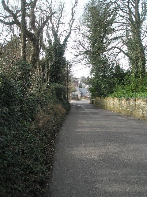 Looking down Blendworth Lane towards Horndean