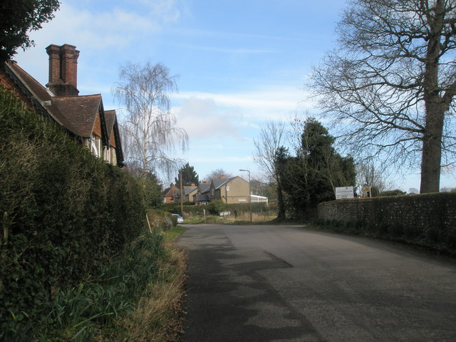 Approaching Blendworth from Horndean
