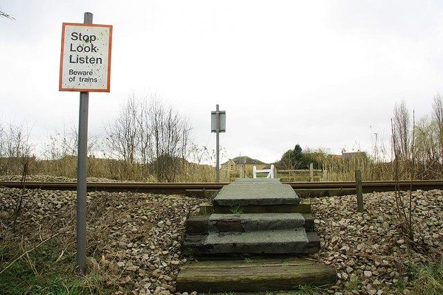 Pedestrian Railway crossing