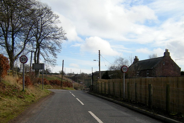 Entering St. Vigeans from the Mains of Letham Road