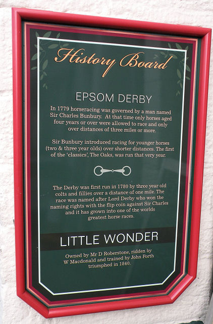 History Board at The Little Wonder