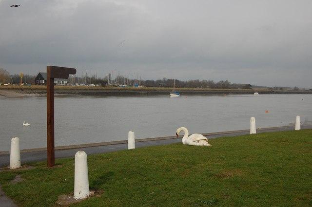 Riverside footpath, Hullbridge