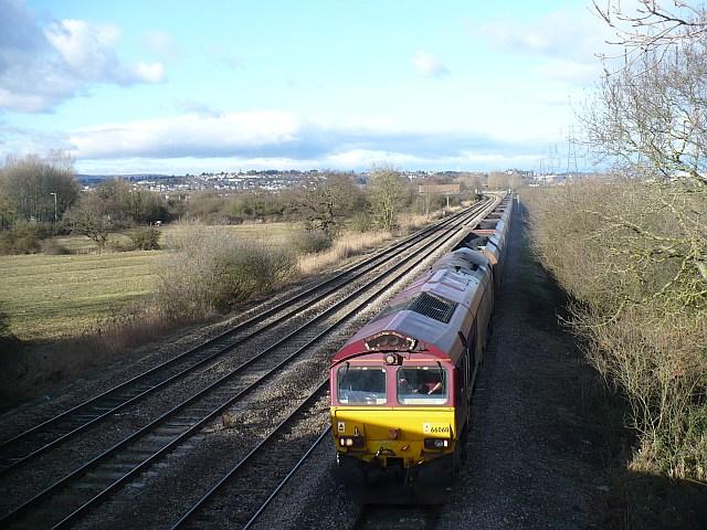 Freight train near Duffryn