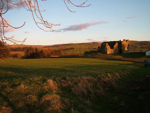 Evening light over Bew Castle