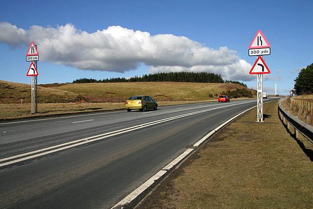The A68 at Renshaw Rig