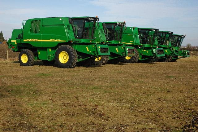 John Deere combine harvesters