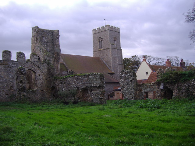 The ruins of Weybourne Priory
