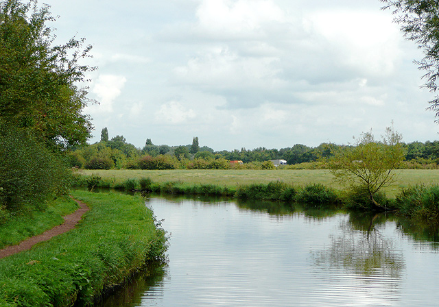 Staffordshire and Worcestershire Canal north near Penkridge, Staffordshire