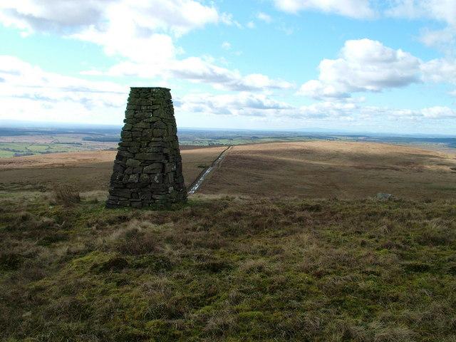 Millennium cairn on Black Preston