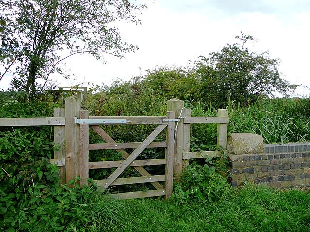 Gate by Longford Lock, near Penkridge