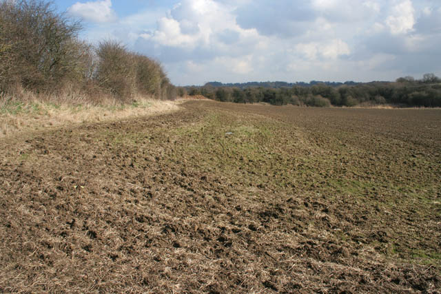 Farmland beneath the Nottingham Canal