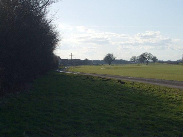 Road to Peel Hall Farm