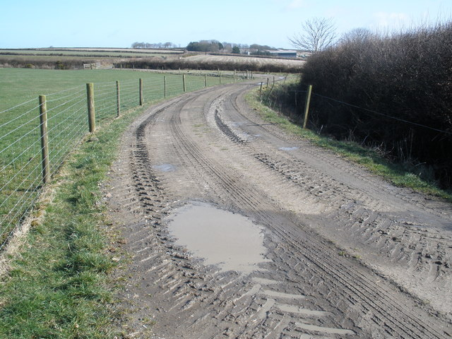 Muddy track, on Seckington Farm