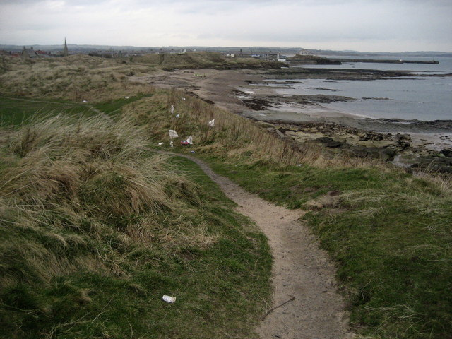 Coast Path approaching Amble
