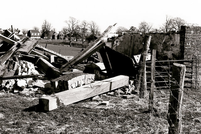 The collapsed St Leonard's Windmill, Winchelsea
