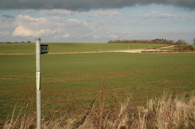 Footpath to Metheringham Barff Farm