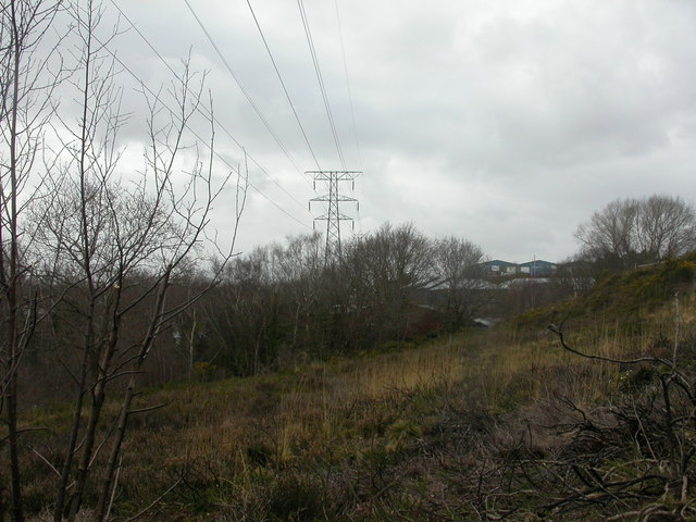 Alder Hills, electricity pylons