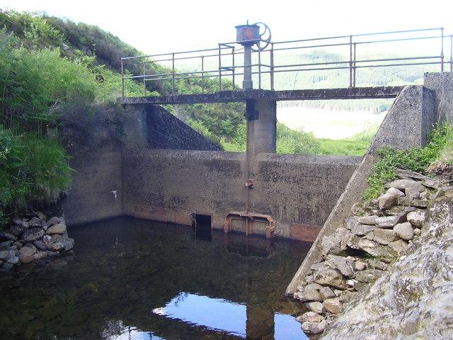 Aqueduct intake on Corrachaive burn
