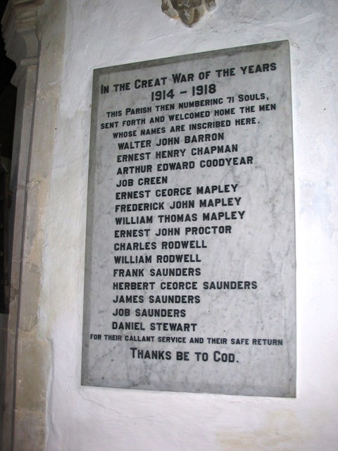 An unusual war memorial
