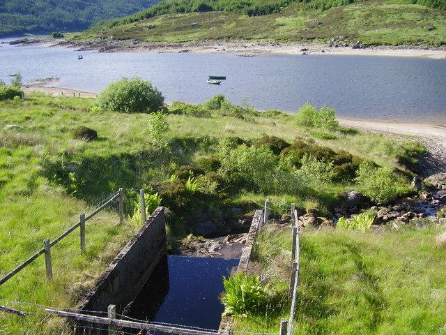 Outfall of Aqueduct into Loch Tarsan