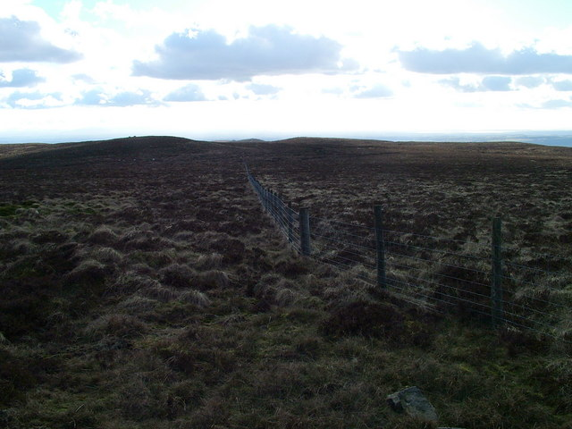 The long straight fence across the fell