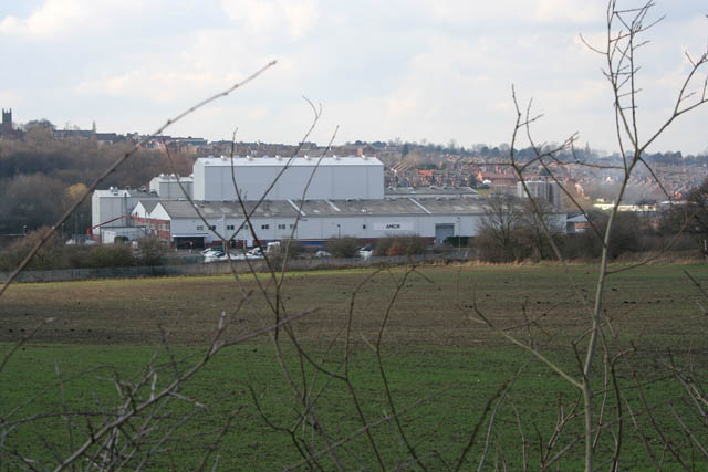 Large factory at Ilkeston Junction