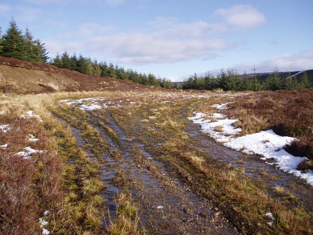 End of track above Gleann Seileach