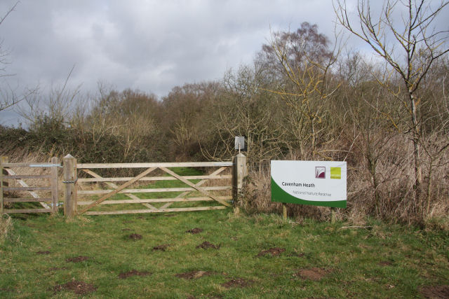 Entry to Cavenham Heath National Nature Reserve