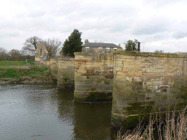 Piers of an earlier Bridge