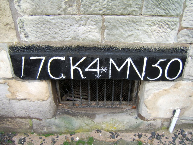 Lintel showing date of marriage/house-building