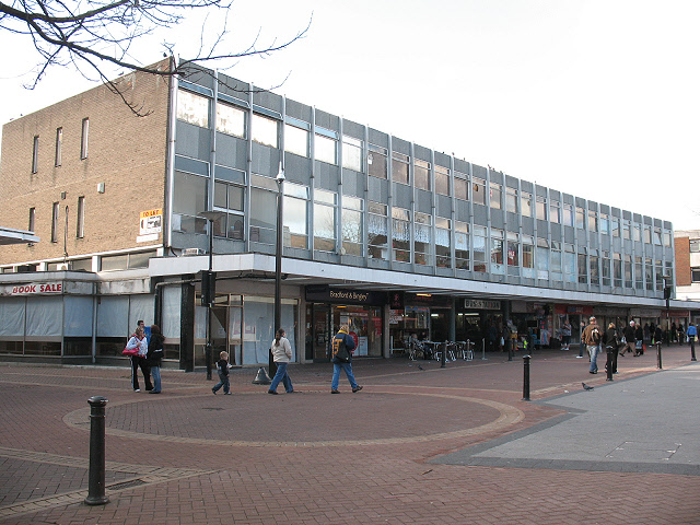 Bedford bus station: rear entrance