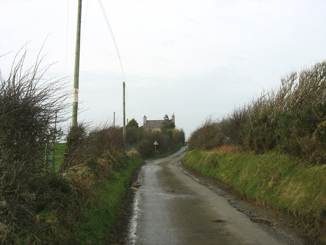 Pleasant Hill seen from the direction of the Penylon crossroads