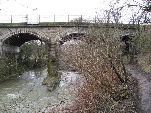 Railway crossing the River Rother