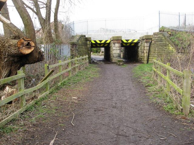 New Whittington  - Footpath under the Railway