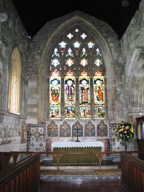 Marsworth Church altar and East Window
