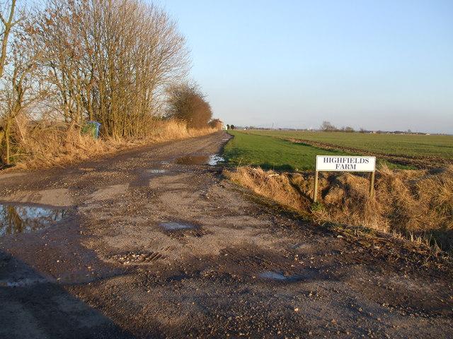 Track to Highfields Farm