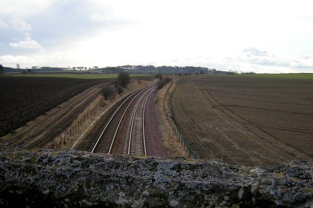 View of Aberdeen / Dundee Railway looking towards Arbroath