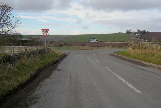 Gilchorn Road at its junction with Chapelton / Inverkeilor Road
