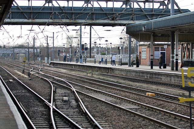 Doncaster Station, platform and points