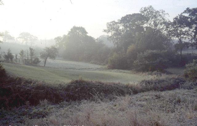 Frosty morning at Childerditch Street