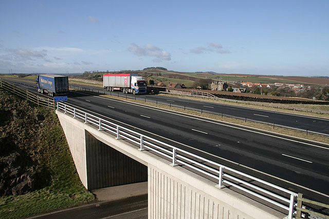 The A1 near East Linton