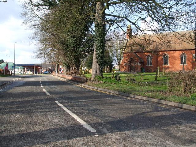 Green roof Garage and Swinefleet church