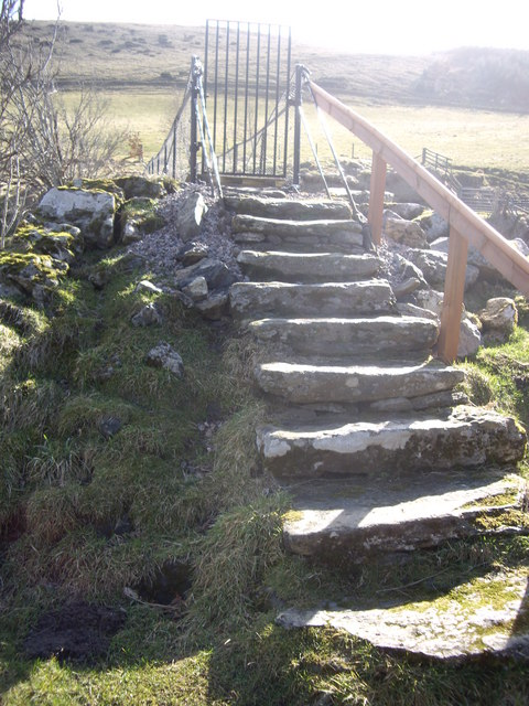Steps to footbridge over the Deveron