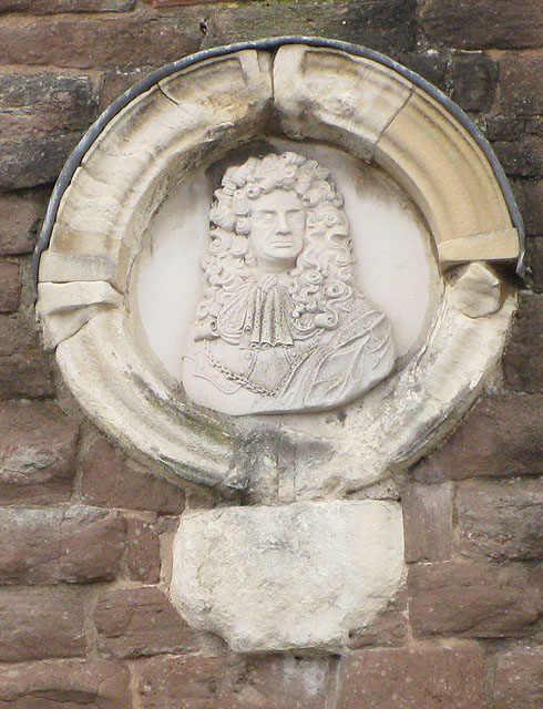Carving of King Charles II