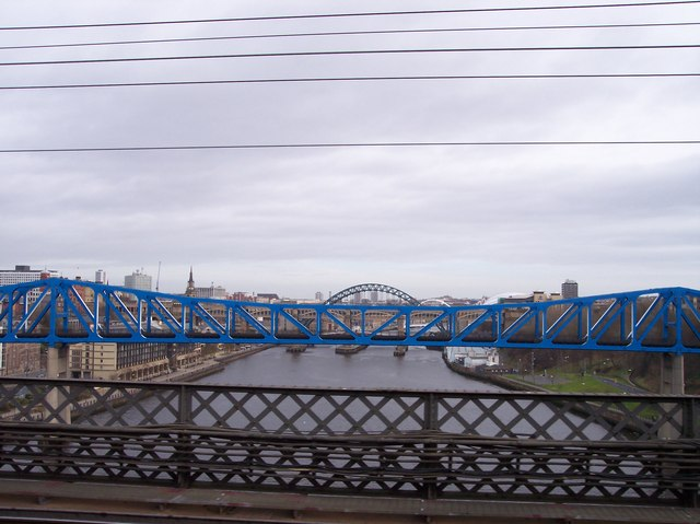 Newcastle bridges from King Edward Bridge