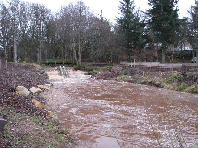 Fochabers Burn and salmon ladder
