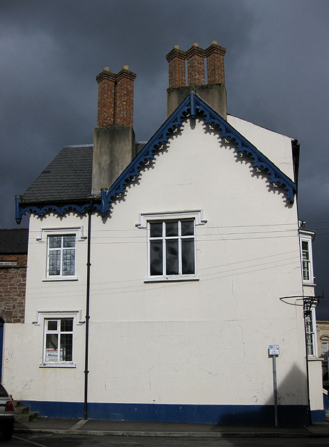 Offset chimneys and fancy fascia boards