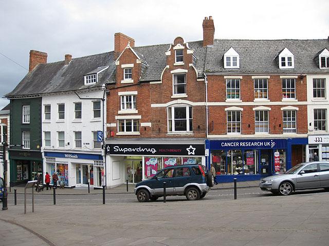 Georgian buildings in Ross-on-Wye